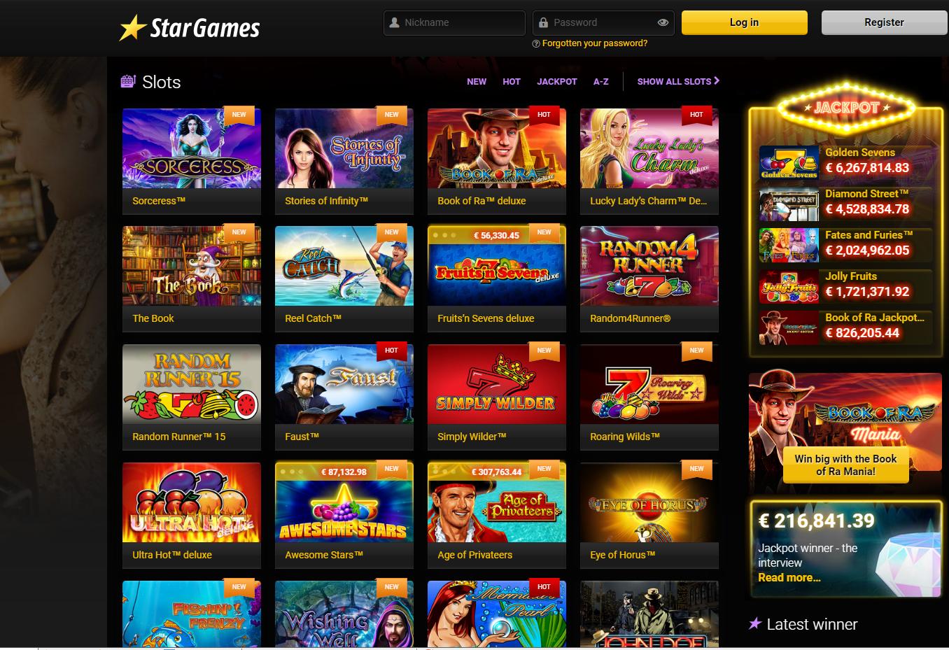 Система Stargames Casino