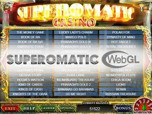 функционирование платформы Superomatic