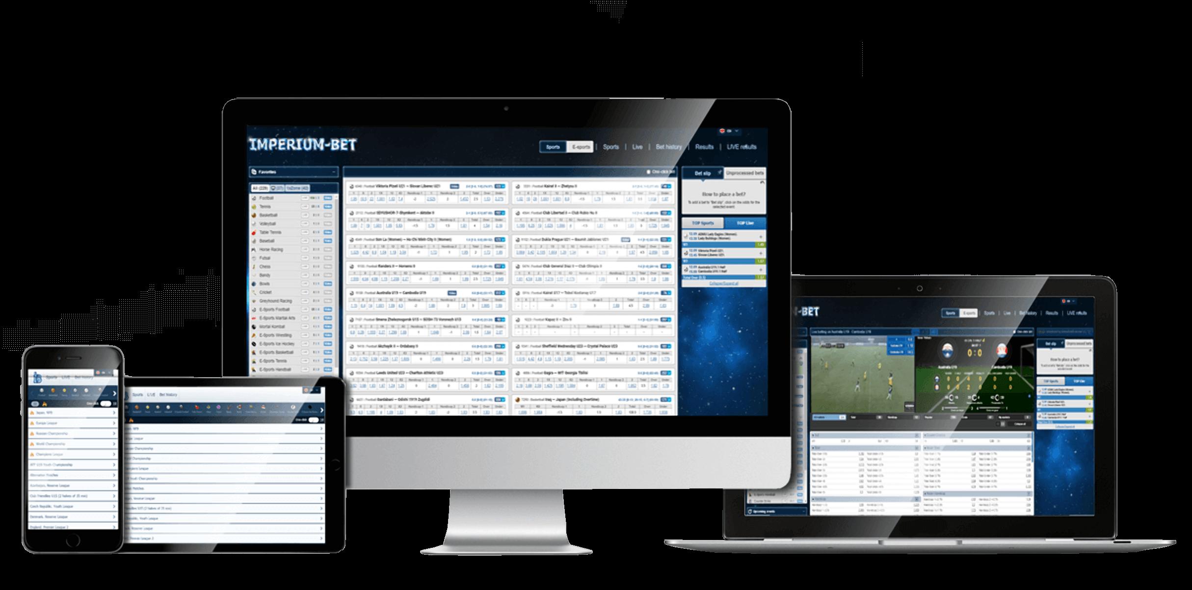 Букмекерская платформа ImperiumBet для всех устройств